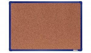 Korková nástěnka boardOK 60x90 cm, modrý ALU rám