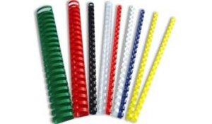 Kroužkový hřbet plast pro vazbu 8 mm, 21-40 listů, 100ks