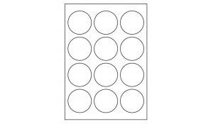 Samolepící etikety Emy - průměr 60 mm