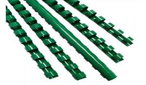 Kroužkový hřbet zelený plast pro vazbu 8 mm, 21-40 listů, 100ks