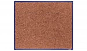 Korková nástěnka boardOK 150x120 cm, modrý ALU rám