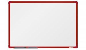 Bílá magnetická tabule boardOK 60x90cm, červený alu rám