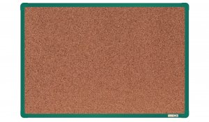 Korková nástěnka boardOK 60x90 cm, zelený ALU rám