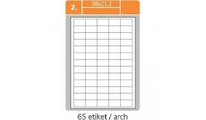 Samolepící etikety SK Label pro laserový a inkoustový tisk - 38 x 21,2 mm