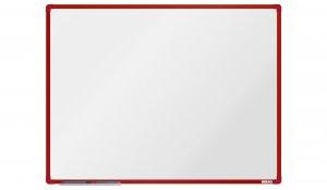 Bílá magnetická tabule boardOK 120x90cm, červený alu rám