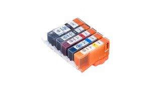 Canon PGI-525BK + CLI-526CMYK - kompatibilní multibalení 5 cartridge s čipy, Topprint