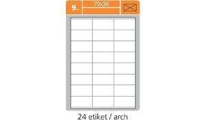 Samolepící etikety SK Label pro laserový a inkoustový tisk - 70 x 36 mm