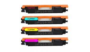 HP CE310+CE311A+CE312A+CE313 - kompatibilní sada všech barev tonerů 126A, Topprint