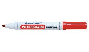 Značkovač na bílé tabule Centropen 8559 stíratelný, červený