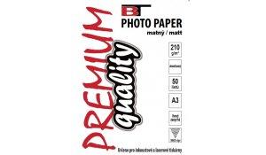 Fotopapír A3 oboustranný matný, 210gr/m2, 50listů