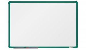 Bílá magnetická tabule boardOK 60x90cm, zelený alu rám