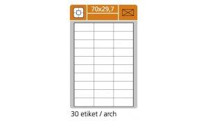 Samolepící etikety SK Label pro laserový a inkoustový tisk - 70 x 29,7 mm