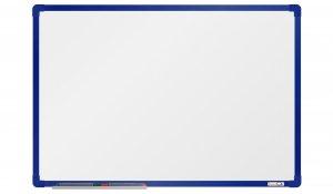 Bílá magnetická tabule boardOK 60x90cm, modrý alu rám
