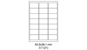 Samolepící etikety Emy - 65,3x38,1 mm