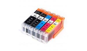 Canon PGI550BK+CLI551CMYK - kompatibilní sada všech barev, XL kapacita s čipy