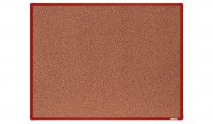 Korková nástěnka boardOK 120x90 cm, červený ALU rám