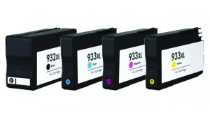 HP CN053A,CN054A, CN055A, CN056A - kompatibilní sada 932XL BK + 933XL CMY s čipy