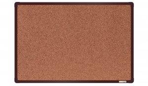 Korková nástěnka boardOK 60x90 cm, hnědý ALU rám