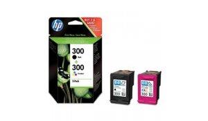 HP 300 - combo pack (černá, 3barevná), CN637EE