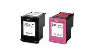 HP 300XL černá + tříbarevná - renovovaná sada 2 kazet s XL náplní