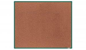 Korková nástěnka boardOK 150x120 cm, zelený ALU rám