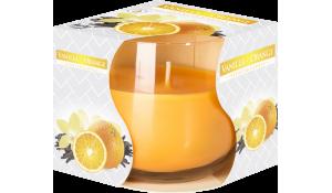 Vonná svíčka Vanilka-Pomeranč ve skle