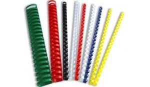 Kroužkový hřbet plast pro vazbu 10 mm, 41-55 listů, 100ks