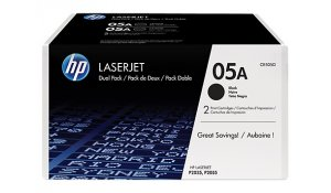 HP tisková kazeta černá velká, CE505D - 2 pack