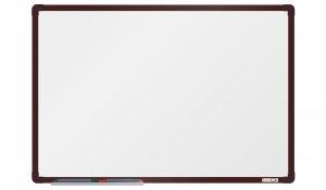 Bílá magnetická tabule boardOK 60x90cm, hnědý alu rám