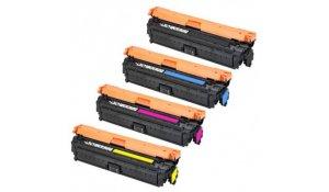 HP CE340A, CE341A, CE342A, CE343A - renovovaná sada 4 barev kazet 651A