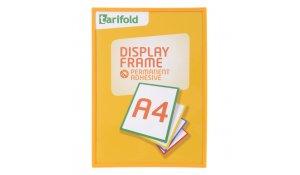Display Frame samolepící rámečky A4 žluté, 5ks