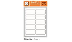Samolepící etikety SK Label pro laserový a inkoustový tisk 98 x 25,4 mm