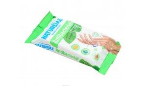 Antibakteriální ubrousky Naturelle na ruce 15ks s jitrocelem