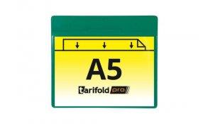 magnetická identifikační kapsa A5, otevřená bokem, PVC 350 µm, zelená - 10 ks