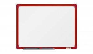 Bílá magnetická tabule boardOK 60x45cm, červený alu rám