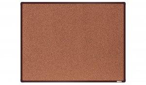 Korková nástěnka boardOK 120x90 cm, hnědý ALU rám