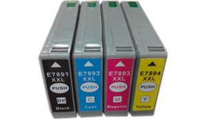 Epson T7891-4 - kompatibilní cenově zvýhodněná sada všech 4 barev XXL
