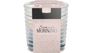 Vonná svíčka Letní rána vlnkované sklo