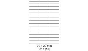 Samolepící etikety Emy - 70x20 mm