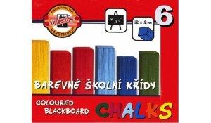 Křída školní, balení 6 barev