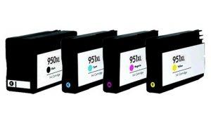 HP CN045A+CN046,CN047, CN048 - kompatibilní sada cartridge 950XL černá+ 951XL CMY barvy