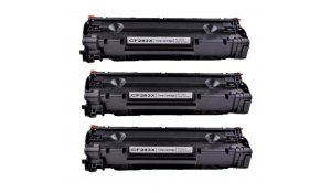 HP CF283X - kompatibilní multipack 3ks tonerů 83X
