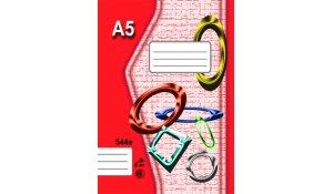 Sešit 544, formát A5, 40 listů, linkovaný