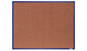 Korková nástěnka boardOK 120x90 cm, modrý ALU rám