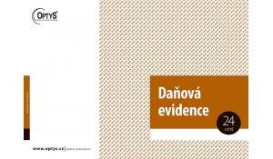 Daňová evidence s klopou A4