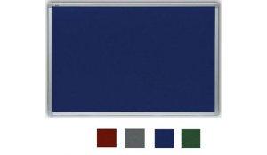 filcová tabule červená 90x60 cm, ALU rám galvanizovaný stříbrem