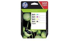 HP 364 XL - Combo pack C/M/Y/K, N9J74AE