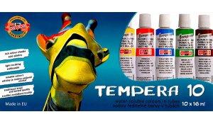Temperové barvy 10ks, 16ml, syté