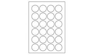 Samolepící etikety Emy - průměr 40 mm
