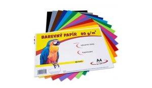 Barevný papír A4, 80g, 60 mix barev
